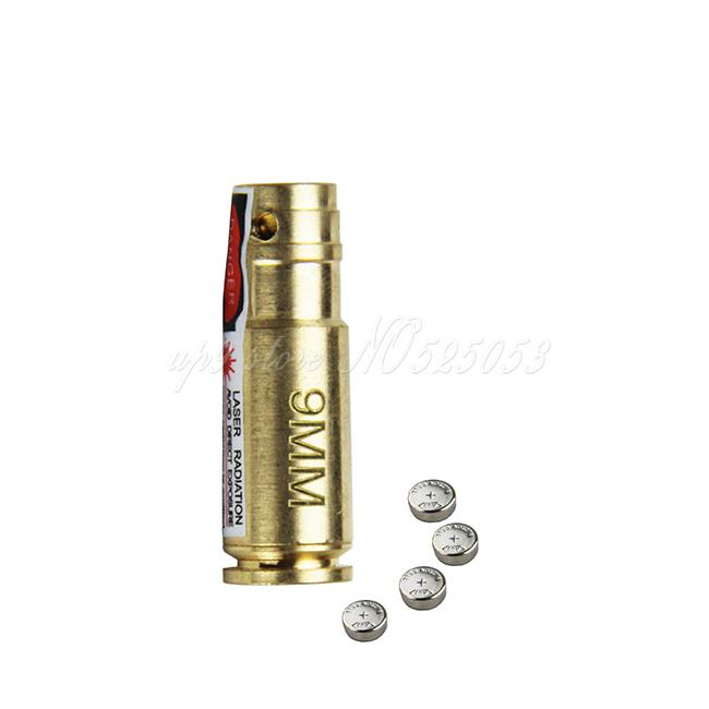 Tactical Hunting 9mm Bore Sighter 9 mm Laser Boresighter Red Laser 9mm Latón Cartucho