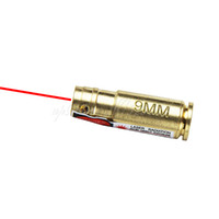 10PCS / LOT Tactical Jagd 9mm Bohrung Sighter 9 mm Laser Schussprüfer Red Laser 9mm Messingpatronen