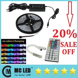 Wholesale Saa Driver - Waterproof 5050 RGB 5M 300 Leds Flexible Led Strips Light 12V + Remote Controller + 12V 5A Drivers With EU AU US UK Plug