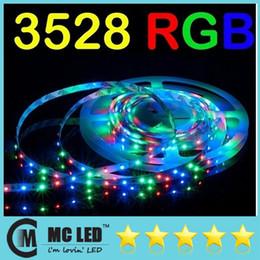 Wholesale 12v power supply for leds - For Christmas Lights RGB Waterproof 5M 300 Leds 3528 SMD Led Strips Light + IR Remote Controller + 12V 2A Power Supply With EU US AU UK Plug