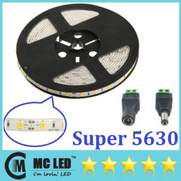 Wholesale led waterproof reel lights - Warm white 5630 LED Strip Light Waterproof 300 LED 5M 16.4 FT SMD Rope Lighting High Power 30M  6 Reel lot