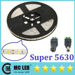 Wholesale Led Waterproof Reel Lights - Cool White 5630 SMD LED Strip Light 8200K Waterproof 300 LED 5M 16.4 FT SMD Rope Lighting High Power 30M  6 Reel lot