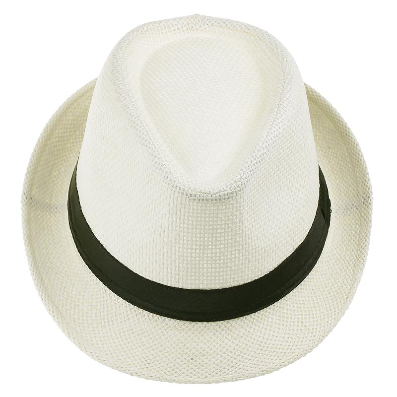 755f6198662 Unisex Panama Straw Hat Men Fedora Chic Summer Stingy Brim Cap Fit Beach  Travel ZDS6 10 Panama Straw Hats Men Fedora Stingy Brim Cap Online with ...