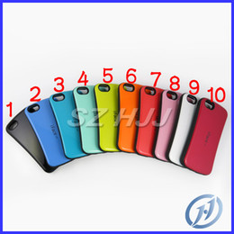 Wholesale Iphone 5c Color Cases - iface multi color elegant curve design hybrid material shock absorber shatter proof bumper case protector for iphone 5 5s 5c 10 colors