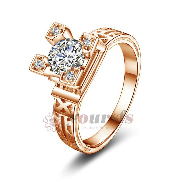 Yoursfs Rings austrian crystal ring 18K Gold Plated Use Swarovski Crystal Charming Eiffel Tower Charms Jewelry Wedding For Women R300R1