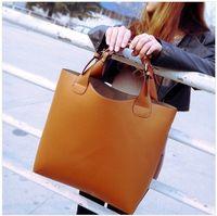 Wholesale Retro Vintage Tote - Hot 2016 new women Retro fashion leather handbag shoulder bag totes 6 color BAF005 free shipping