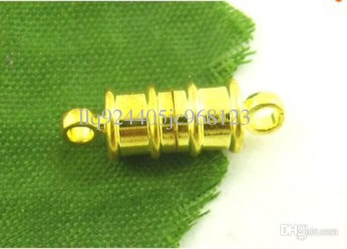 Livraison gratuite 17 x 6 m cuivre plaqué blanc k bracelet Livraison gratuite 17 * 6MM aimant, Rhodium K couleurs fermoir magnétique bracelet de bijoux de mode