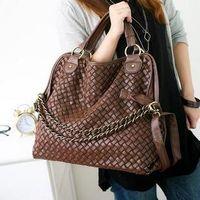 Wholesale Grid Bag For Women - Wholesale - Brand 2017 fashion women handbags high quality Korean WEAVING GRID designers shoulder bags for woman genuine PU leather totes.