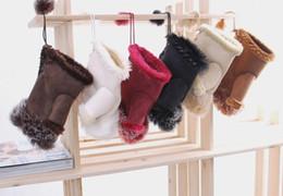 Wholesale Rabbit Fur Fingerless Gloves - Wholesale - Beautiful Rabbit Fur Gloves Lady's Winter Fingerless Mmulti-colored Half-fingers Glove Free Shipping
