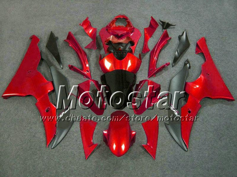 ABS black red motorcycle parts for YAMAHA fairing YZF-R6 2008 2009 2010 YZFR6 YZF R6 08 09 10 YZFR600 fairings kit+7 gifts Vf25