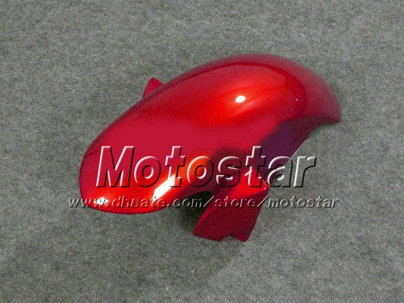 ABS Svart Röd Motorcykeldelar för Yamaha Fairing YZF-R6 2008 2009 2010 YZFR6 YZF R6 08 09 10 YZFR600 Fairings Kit + 7 Presenter VF25