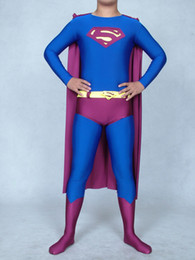 Superman Lycra Spandex Pas Cher-Halloween cospaly Blue Purple Superman Spandex / Lycra Superhero Costume
