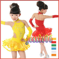 Wholesale Latin Dance Costumes Children - New children's Latin dance clothes girls dress children dance Latin dance costumes children clothing