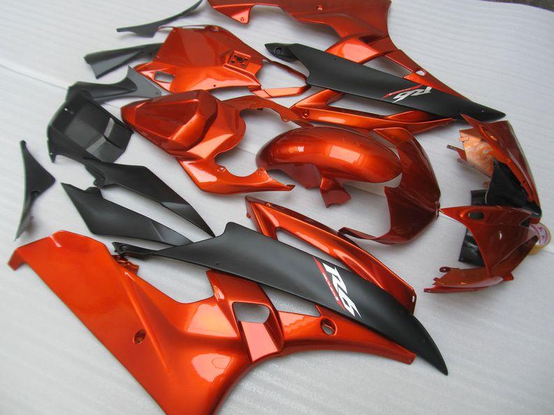 Fairing kit for YAMAHA YZFR6 2006 2007 YZF R6 YZF-R6 06-07 YZF600 R6 06 07 orange black Motorcycle fairings kit+7 gifts YQ88