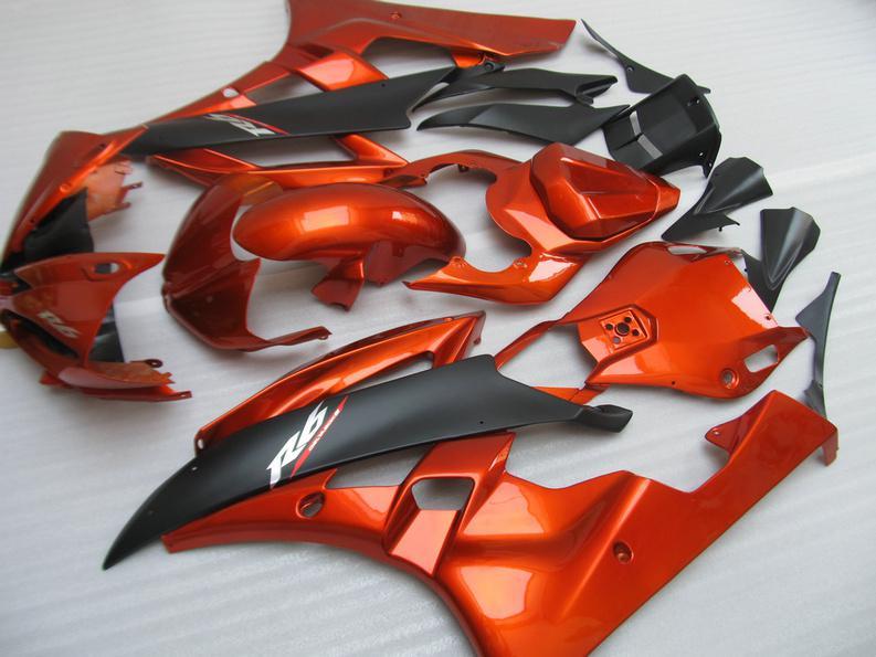 Verkleidungskit für YAMAHA YZFR6 2006 2007 YZF R6 YZF-R6 06-07 YZF600 R6 06 07 orange schwarz Motorradverkleidungen + 7 Geschenke YQ88