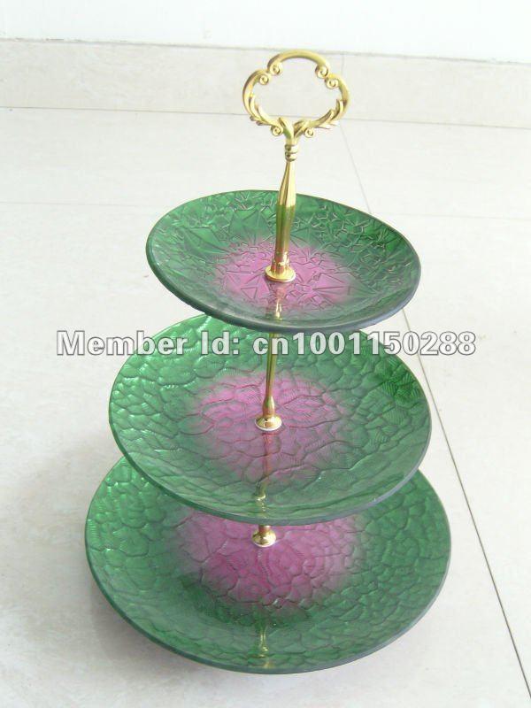 3-tier big flowerlet golden