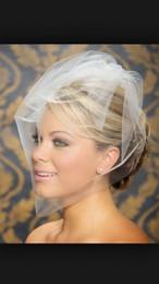 Wholesale Simple Birdcage Veil - Fabulous Vintage Simple White Tulle Birdcage Veil Headpiece Head Veil Wedding Bridal Accessories