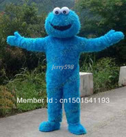 Wholesale Sz Custom Dresses - Sesame Street Cookie Monster Mascot Costume Fancy Dress Halloween Suit ADULT SZ,very good quality