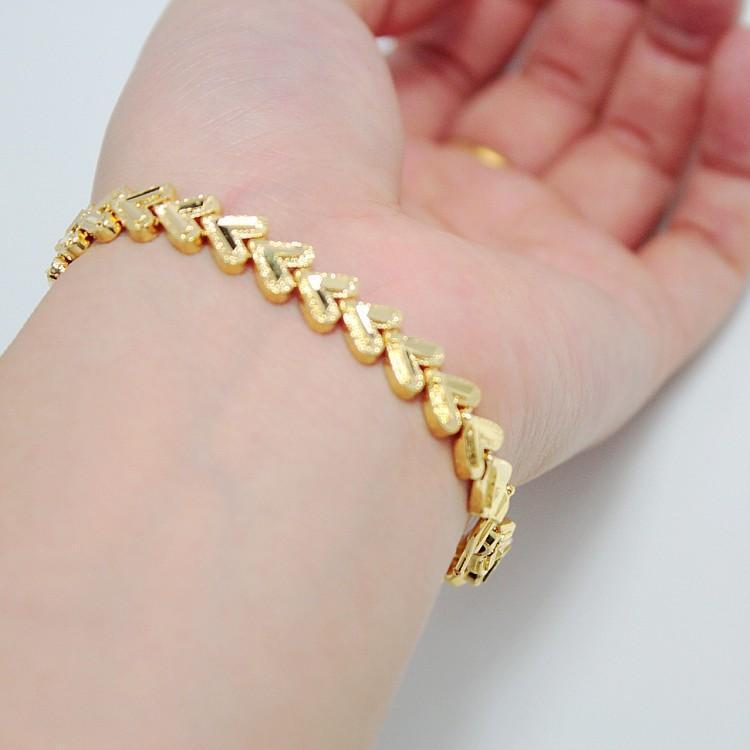 Full 3 Package Through Alluvial Gold Plated Gold Bracelet Female ...