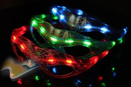 Wholesale Glowing Spiderman - Very Cool LED Spiderman Glasses Flashing Glasses Light Party Glow Mask Christmas Halloween