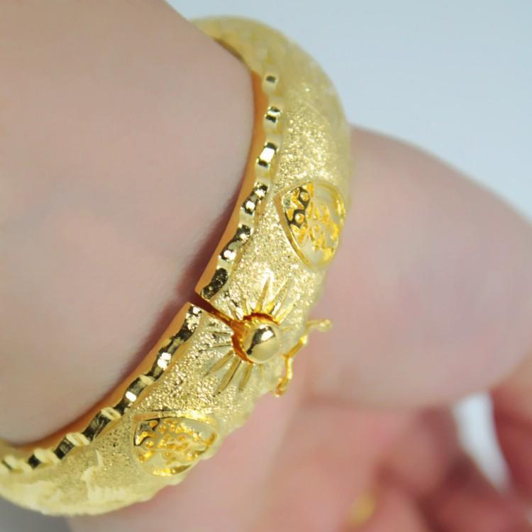 Hot Popular Models Plated 24k Gold Bracelet Hand Ring Wedding