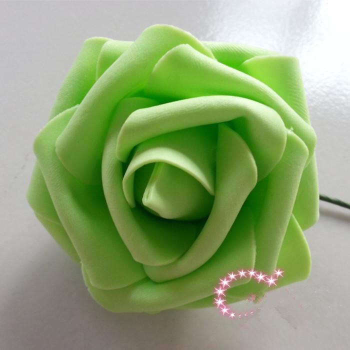 Dia.7cm simulación artificial PE espuma EVA Camellia Rose boda flor nupcial de la Navidad