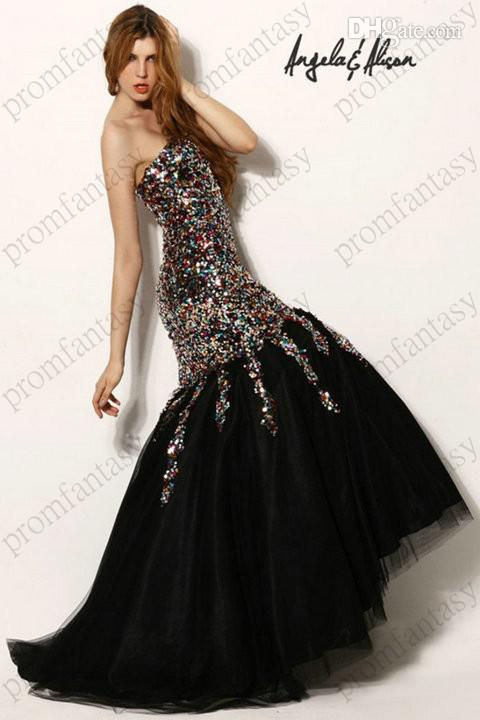 Shimmering Black Mermaid Prom Pageant Dresses Under 200$ 2016 ...