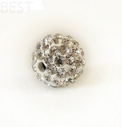 Wholesale Disco Ball Pave Crystal 8mm - Best! free shipping 8mm white Micro Pave CZ Disco Ball Crystal Shamballa Bead Bracelet Necklace Beads.MJPW Wholesale! Stock!Mixed Lot!