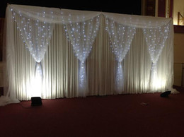 Wholesale Drapery Lights - 3m*6m backdrop stand*1, 3m drop*6m length backdrop*1, 6m Length organza swag*1 ,1.6m*2.8m organza curtain*4,3m*6mLed light*1