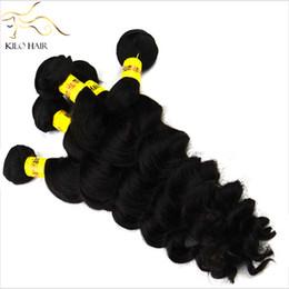 Argentina 5A virgen brasileña de la armadura del pelo suelto Curl Wave fábrica doble trama libre vertimiento longitud de la mezcla 4pcs paquetes de pelo para una cabeza completa Suministro