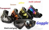 Wholesale Men Snowboard Goggles - Wholesale - Snowboard Snowmobile Motorcycle bike Ski Goggles Eyewear Frame multi-colored Lens