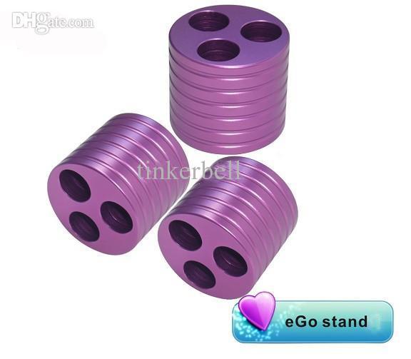 eGo Stand eGo Holder E cig metal Base Ecig Vape Tray Charger Triple Holder suit eGo-t,evod,eGo-Q Battery