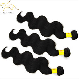 Wholesale grade 5a virgin brazilian hair - Unprocessed Brazilian Hair Virgin Body Wave Human Hair Weave 5A Grade 12inch to 34inch Mix Size 3pcs lot For Your Nice Hair Fast Shipping