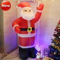 Outdoor Christmas Decoration Plastic Luminous Inflatable Christmas Gifts  Christmas Santa Claus Inflatable Doll 3.5m 2.4m 2.1m 1.8m Santa Claus Gifts  Cute ...
