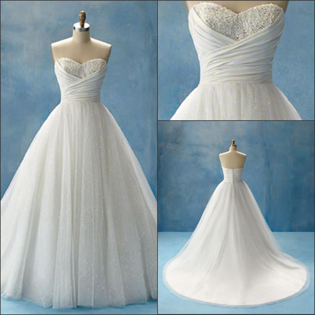 Discount Cinderella Garden Sweetheart Wedding Dresses Beaded Sequins ...