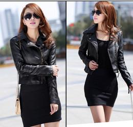 Venda quente, outono estilo Europeu senhoras curto diagonal zipper jaqueta de couro da motocicleta, 0058 em Promoção