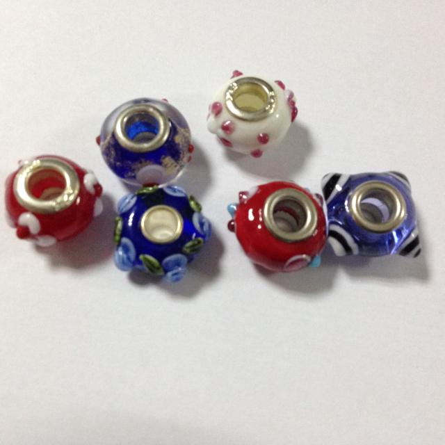 DIY Lampword Murano European Glass Bead für Pandora Fit Charm Armband, Farbe der Mischung !