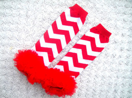 Wholesale Lace Ruffle Leggings For Girls - Baby girls chevron leg warmers toddler ruffle leggings kids infant lace football leg warmer 12 colors for choose free shipping