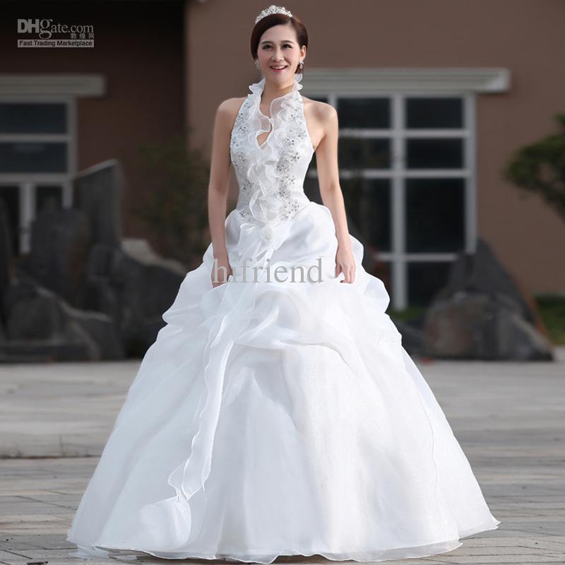 Discount Wholesale Wedding Dress 2014 New Korean Sweet Princess ...