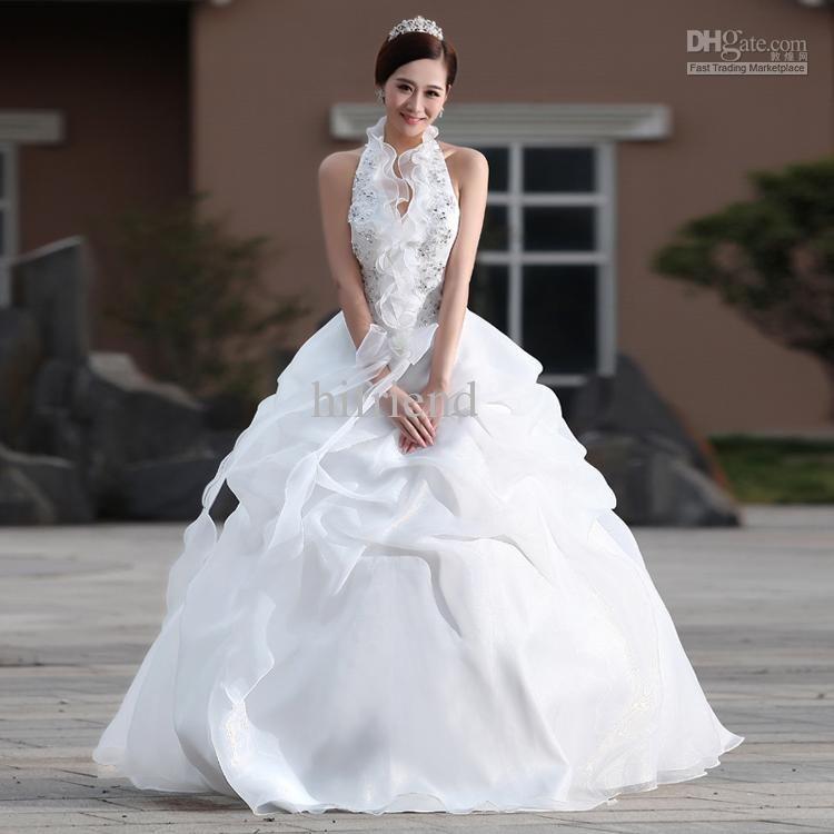 Wholesale - Wedding dress 2014 new Korean sweet princess Halter ...