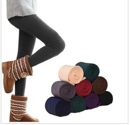 Wholesale Women Warm Skinny Pants - Hot New Free Shipping With Tracking Number Winter Women Bamboo Carbon Fiber Double Thermal Warm Tights Footless Pants Leggings 824