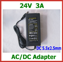 Wholesale Printer Power Supplies - 20pcs 24V 3A 72W 5.5x2.5mm AC DC Adapter Power Supply with AC Cable Charger AC 100V-240V for Printer LCD Monitor Charger