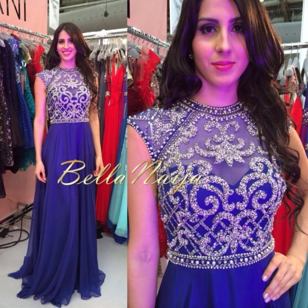 Gorgeous A Line royal Blue Evening Dress Floor Length Chiffon Keyhole Back Evening Gowns Bella Formal Sexy Prom Dresses Beads Sequins