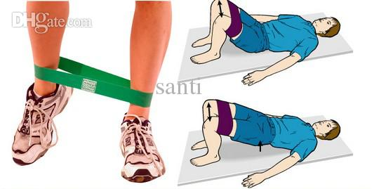 bande de résistance boucle circonférence 60cm lumière med lourd exercice pilates yoga bandes de fitness tubing workout
