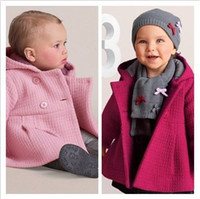 Wholesale Toddler Coats Girls Red - 3Pcs Spring Autumn Toddler Baby Girls Coat Children Cotton Lining Jacquard Baby Coat Jacquard Lining Quilted Hooded Jacket Kids Outwear