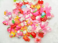 Wholesale Cute Hair Clips For Babies - 200pcs cute things flat back Resin Dessert charms Cabochons Cabochon Cameo DIY Accessory mix style for baby hair clip