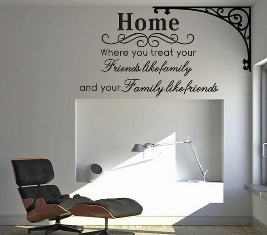 Home Family Friends Spiritual Wall Quote Decal Decor Sticker Lettering Saying Vinyl Wall Art Stickers Decals Room Decor Wall Stickers Quote Wall Decals ... & Home Family Friends Spiritual Wall Quote Decal Decor Sticker ...