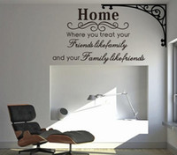 Wholesale vinyl wall art sayings - Home Family Friends Spiritual Wall Quote Decal Decor Sticker Lettering Saying Vinyl Wall Art Stickers Decals