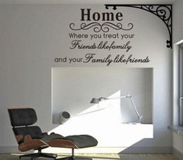 Wholesale friends decor - Home Family Friends Spiritual Wall Quote Decal Decor Sticker Lettering Saying Vinyl Wall Art Stickers Decals
