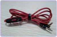 Wholesale headphones l cable resale online - Red Wires for Headphone mm Replacement Cable Audio L Plug Straight Plug Wire Cables with Control Talk for PRO Headsets